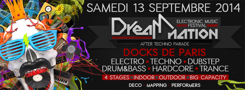 13/09/14 > DREAM NATION FESTIVAL - After Techno Parade Banniere black FB2