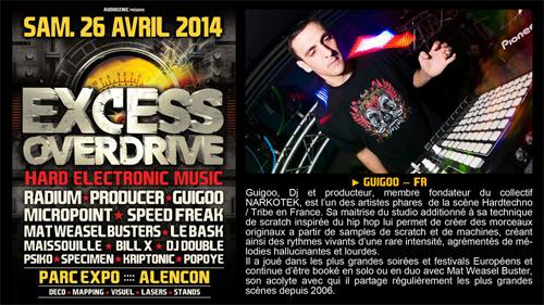 26/04/2014 - Alencon - EXCESS OVERDRIVE w/ Radium an GUIGOO500