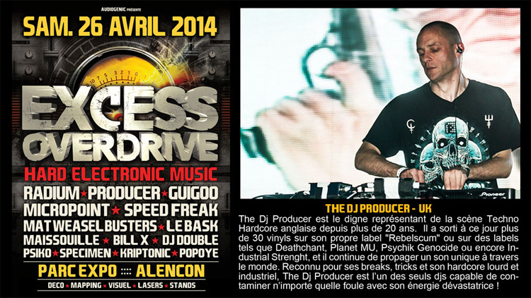 26/04/2014 EXCESS OVERDRIVE - Alencon -  w/ Radium and more PRODUCER750-