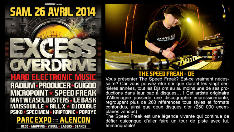 26/04/2014 EXCESS OVERDRIVE - Alencon -  w/ Radium and more TSF750-