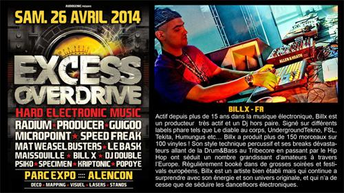 26/04/2014 EXCESS OVERDRIVE - Alencon -  w/ Radium and more Billx500