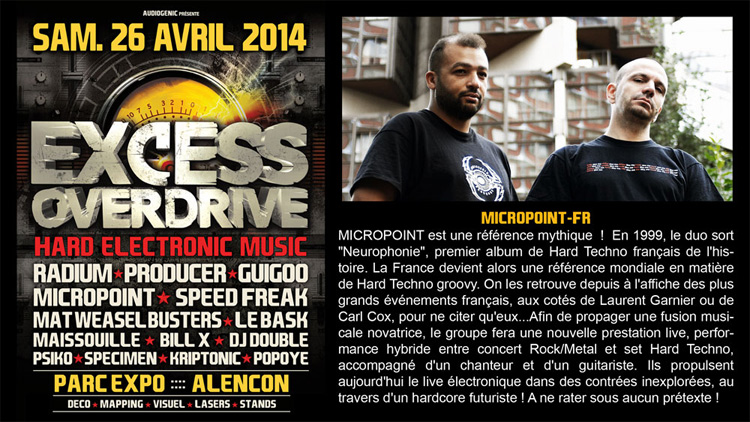 26/04/2014 EXCESS OVERDRIVE - Alencon -  w/ Radium and more Micropoint750