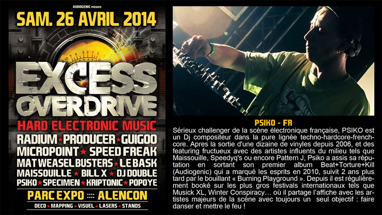 26/04/2014 EXCESS OVERDRIVE - Alencon -  w/ Radium and more Psiko750