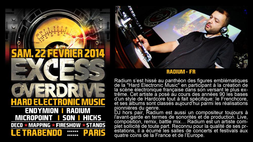 22/02 EXCESS OVERDRIVE Paris – Micropoint, Radium, Endymion Radium-paris
