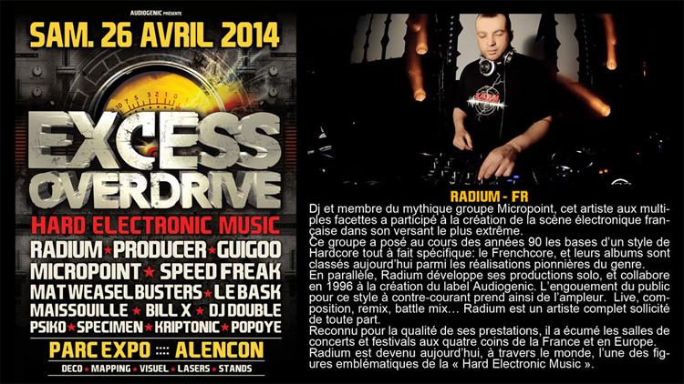 26/04/2014 EXCESS OVERDRIVE - Alencon -  w/ Radium and more Radium750